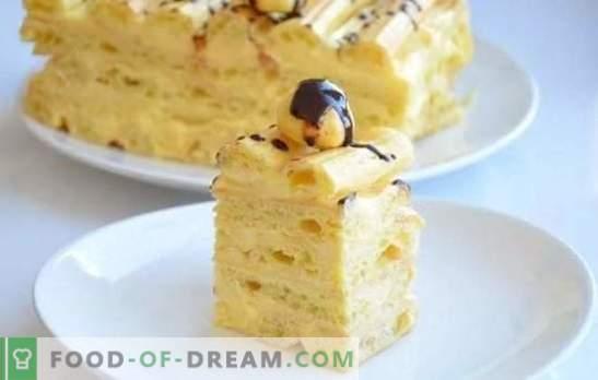 Castard Cake - Стъпка по стъпка рецепти за вкусен десерт. Готвене на домашно приготвени шоколадови торти с крем (стъпка по стъпка)