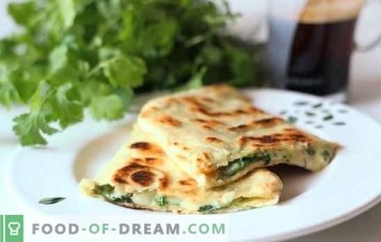 Пита със сирене в тиган - мързеливи палачинки! Рецепти на различни пълнежи за пържени пити със сирене в тиган