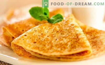 Panqueques en recetas probadas con levadura. Cómo cocinar correctamente y sabroso los panqueques con levadura.