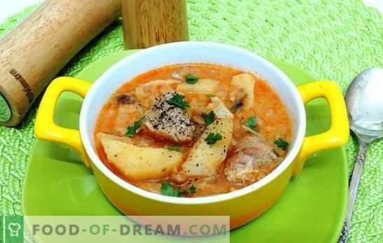 Запечете картофите със свинско месо в бавен котлон - да! Яхнии, печива и пълнени картофи със свинско месо в бавен котлон