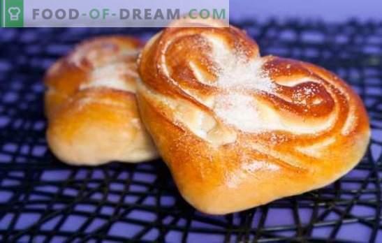 Сердечни торти - аромат и вкус на домашно приготвени сладкиши. Най-добрите рецепти за сърцевидни ролки със захар, маково семе, канела и други
