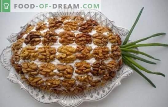 Салата от пиле, ананас и орех - кралски аромат! Интересни идеи за приготвяне на салати с пиле, ананас и орехи