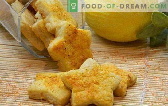 Лимонови бисквитки - за слънчево настроение! Рецепти за вкусни лимонови бисквити: сладкиши, бисквити, френски
