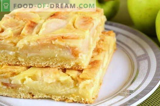 Ябълков пай - най-добрите рецепти. Как да правилно и вкусно да се готви ябълков пай.