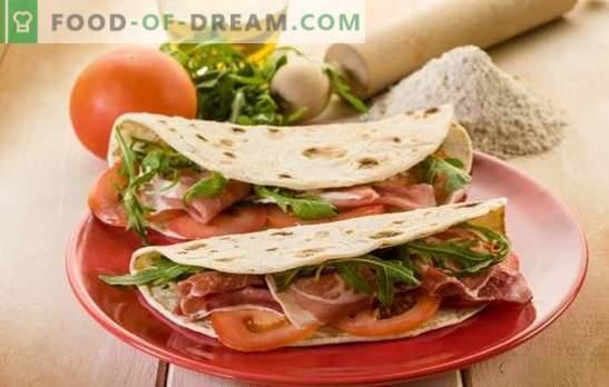 Open Shawarma - Здравословна храна в кухнята. Рецепти отворени shawarma в пита хляб, хляб или мексиканска тортила