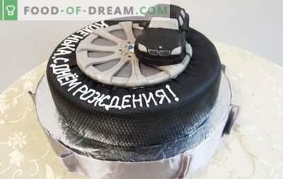 ¡Un pastel de cumpleaños para un hombre es el regalo más dulce! Una selección de diferentes pasteles para hombres para cumpleaños