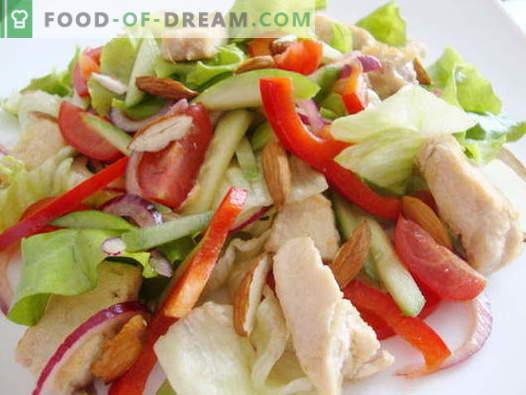 Салата от пиле и краставица - най-добрите рецепти. Как да правилно и вкусно да се подготви салата с пиле и краставици.