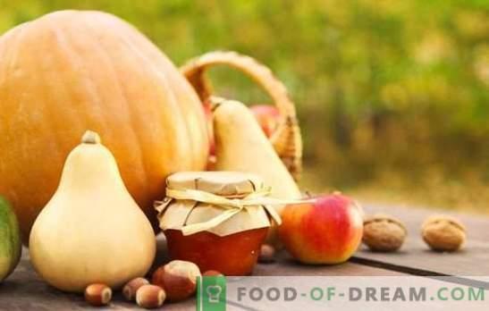 Тиквено сладко с ябълки - необичайна комбинация от аромати. Класически и екзотични възможности за приготвяне на тиквено сладко с ябълки