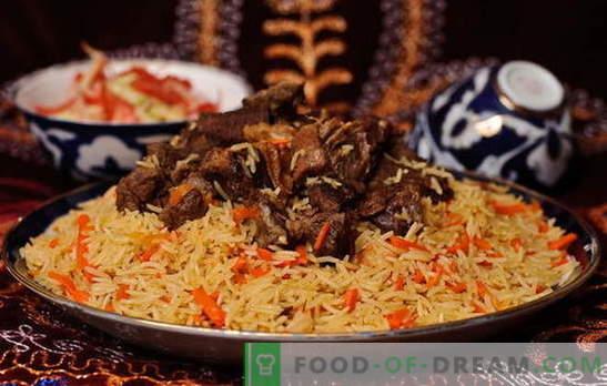 Plov real de Uzbekistán - recetas y secretos de cocina. Cómo hacer pilaf de cordero uzbeko, pollo, con frutos secos