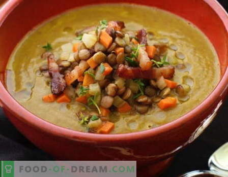Супа от леща - най-добрите рецепти. Как да правилно и вкусно приготвя супа от леща.