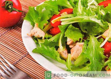 Салата с пиле и домати - най-добрите рецепти. Как да правилно и вкусно да се подготви салата с пиле и домати.