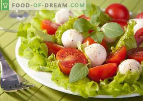 Салата с домати и сирене - доказани кулинарни рецепти. Как да се готви салата с домати и сирене.