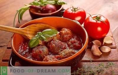 Таралежи в доматен сос в тиган, във фурна, в бавен котлон. Рецепти за таралеж в доматен сос с ориз, ечемик, картофи, зеле