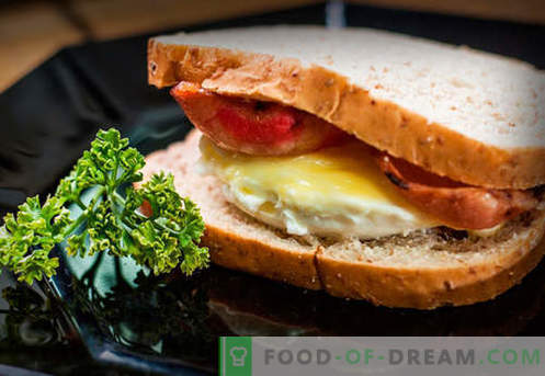 Яйчните сандвичи са най-добрите рецепти. Как бързо и вкусно да готви сандвичи с яйце.
