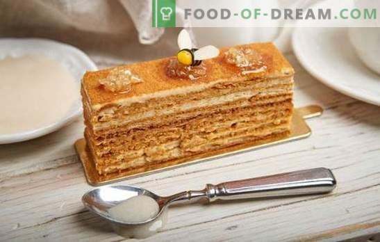 Как лесно да приготвите вкусна медена торта с кондензирано мляко. Класически и оригинални рецепти за кекс с кондензирано мляко