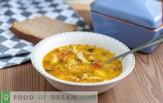 Rassolnik в пилешки бульон - задоволяващ, вкусен, прост. Най-добрите рецепти за туршия в пилешки бульон