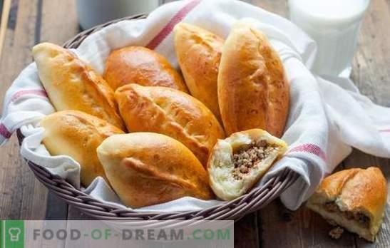 Рецепти банички с мляно тесто за мая. Сърдечни и апетитни сладкиши: кайма с пайове с тесто от дрожди