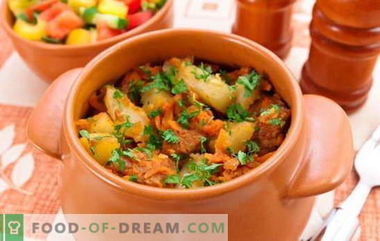 Печени саксии с месо и картофи - това ли е първото или второто? Рецепти за домашно печено с месо и картофи за обилни ястия