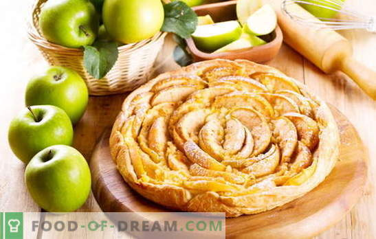 Как бързо да направите сладкиш с ябълки. Торт от ябълка, канела, стафиди и кайсии