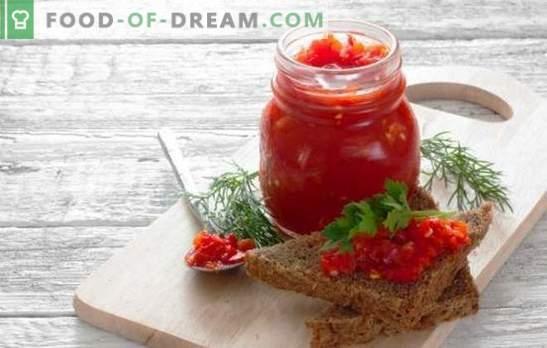 Аджика пикантна с ябълки - вкусна закуска за всяко ястие. Рецепти и тайни на вкусна пикантна аджика с ябълки