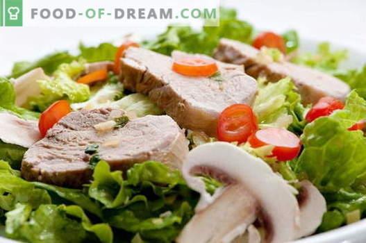 Свинска салата - най-добрите рецепти. Как да правилно и вкусно готви свинска салата.