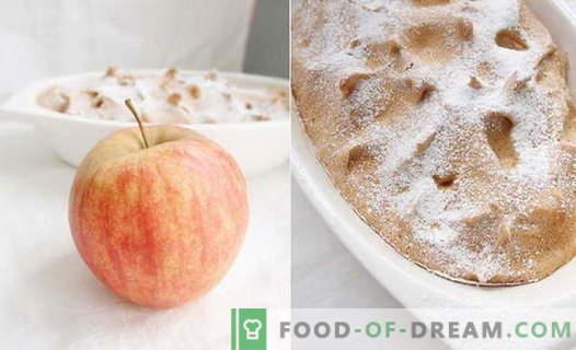 Apple Soufflé - най-добрите рецепти. Как бързо и вкусно да готви ябълка суфле.