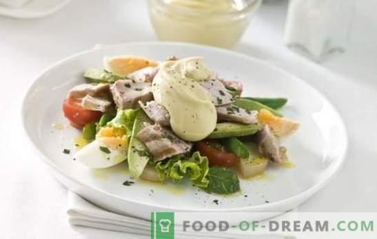 Салати с яйце и майонеза - сърдечно лечение. Оригинални рецепти от бутер и прости смесени салати с яйца и майонеза