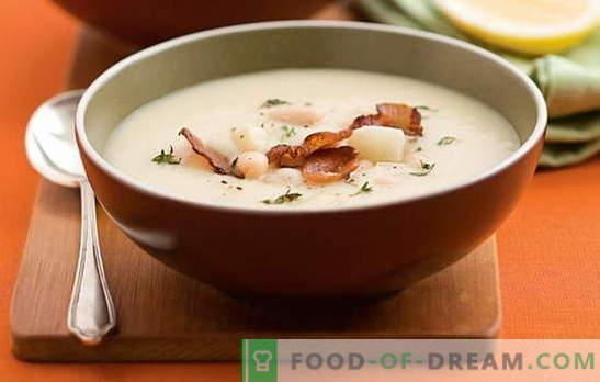 Супа от бял боб - приятен приятел! Рецепти за различни супи от бял боб: домати, месо, сирене, пушени, гъби
