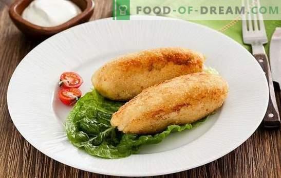 Zrazy fish - просто, здраво, вкусно ястие. Рецепти на рибни ястия с гъби, яйце, сирене, кисели краставички