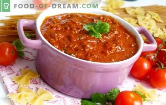 Bolognese сос у дома - най-добрата паста добавка! Класически и нови рецепти за сос от болонезе