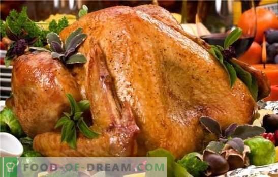 """Готварска печка на фурна обича """"ръкавите"""" и бляскавото фолио! Как да се готви гурме пуешко печено в пещ: рецепти на различни нива на сложност"""