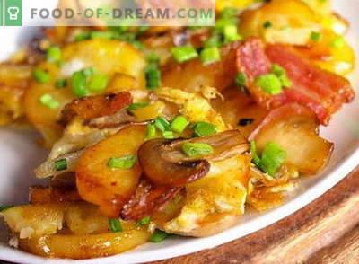 Картофи с гъби - най-добрите рецепти. Как правилно и вкусно да се готвят картофи с гъби.