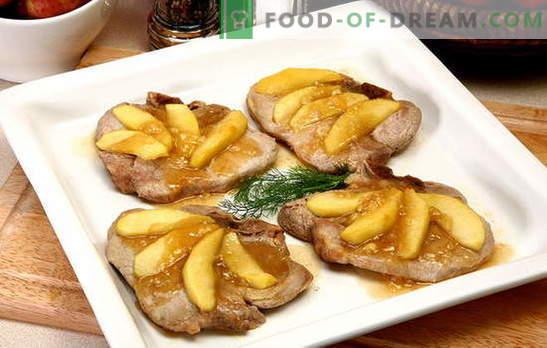 ¡La carne con manzanas es un conjunto maravilloso! Recetas de carne increíble con manzanas en el horno, en ollas, en la sartén