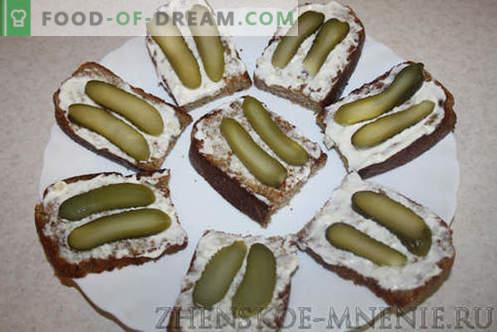 Feestelijke broodjes - recept met foto's en stapsgewijze beschrijving