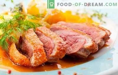 Патешка гърда: рецепти за печени, печени, резки. Най-вкусните опции за рецепти за патешки гърди от готвачи от Франция, Италия и Русия