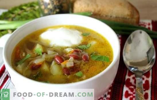 Супа с боб - традиционна гореща чиния в нов вариант. Най-добрите рецепти на зеле супа с боб, зеле, патладжани, гъби