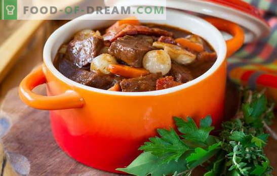 Свинска яхния - готвим с удоволствие! Различни рецепти от свинска яхния със зеленчуци, елда, ориз, зелен фасул