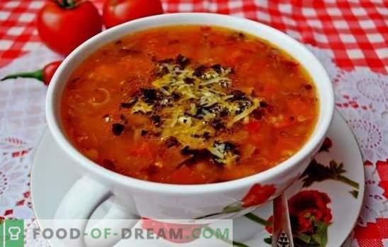 Zupa pomidorowa jest klasyczna. Światowe przepisy na gotowanie zup z pomidorami: smaczne, zdrowe, niezwykłe