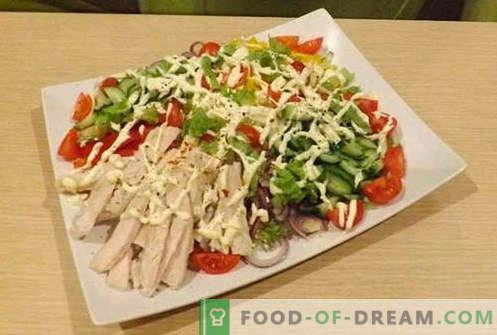 Insalate di filetto di pollo - cinque migliori ricette. Come preparare correttamente e deliziosamente insalate con filetto di pollo.