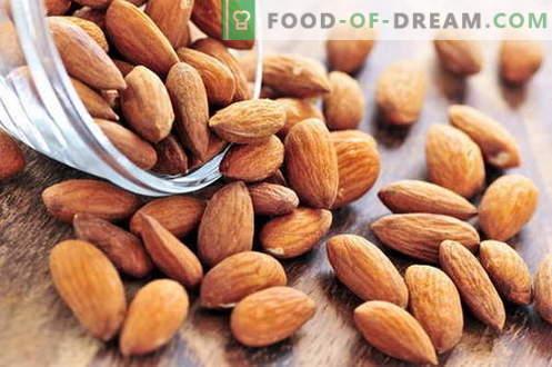 Бадем - описание, свойства, използване при готвене. Рецепти ястия с бадеми.