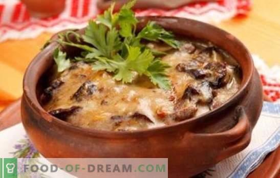 Картофи с гъби в саксия - за ежедневието и празниците! Различни рецепти за картофи с гъби в саксии
