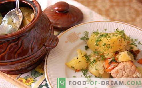 Пот печено - най-добрите рецепти. Как правилно и вкусно да готвя печено в саксии.