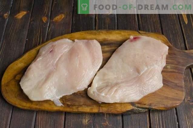 Hühnerfleisch nach französischer Art mit Champignons und Kartoffeln