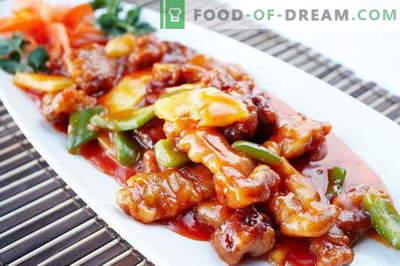 Süßes Fleisch - die besten Rezepte. Wie man süsses Fleisch richtig und lecker kocht.